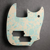 Pineapple Paradise - Mustang Bass PJ Pickguard - Pearl Surf Green on Ivory Acrylic