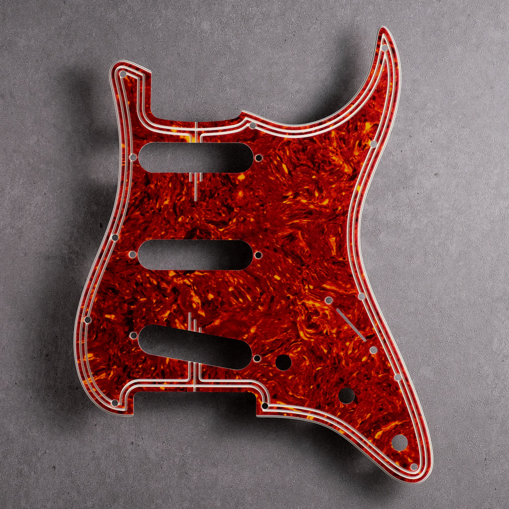 Streamline - Stratocaster Pickguard - Tort Mars Red 4-ply