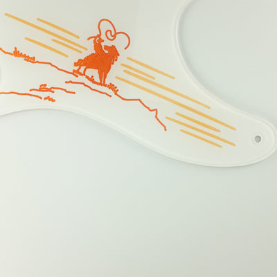 The Rider -- Telecaster Pickguard - White