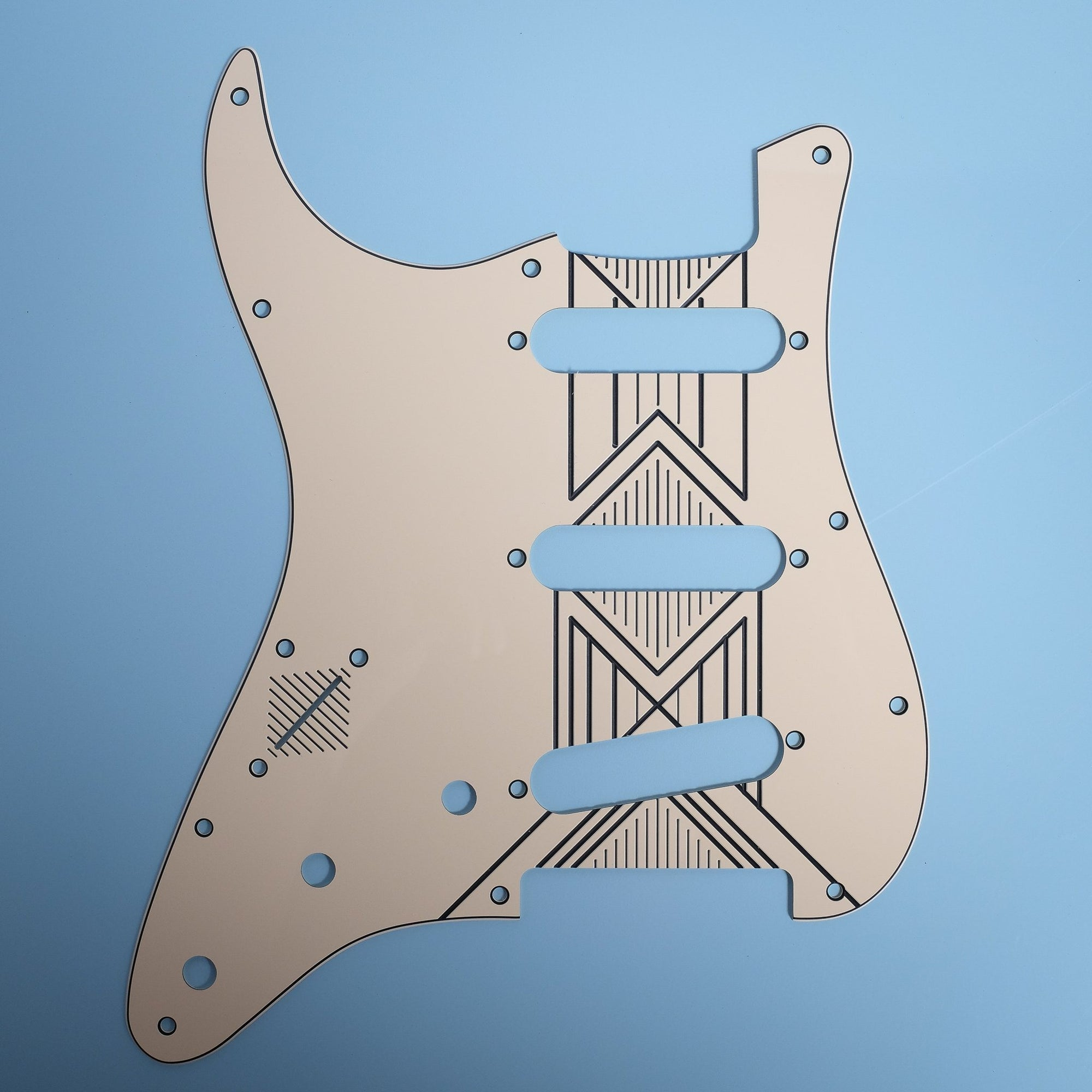 Broken Arrow - Left-handed Stratocaster Pickguard - Cream/Black/Cream