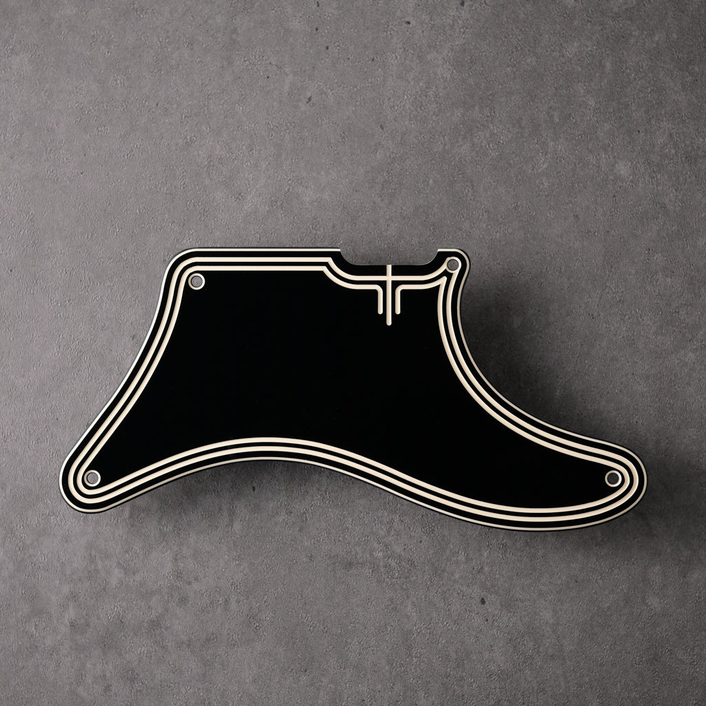 STREAMLINE - Cabronita Pickguard - Black/Cream/Black