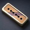 The Stripe Reversed - P90 Soapbar Cover - Gold Trim - Burgundy Mist Metallic on Deep Gold