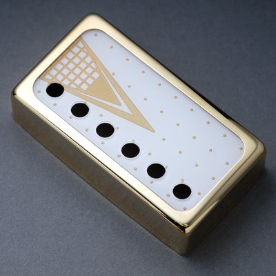 The Kelvinator - Humbucker Cover - Gold Trim - Gold on White Face