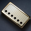 Banded - Humbucker Cover - Gold Trim - Gold on Silver Face