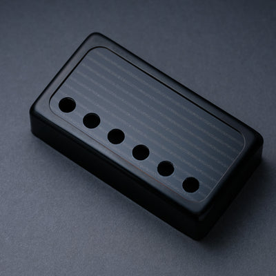 banded humbucker cover black trim metallic black on black face decoboom. Black Bedroom Furniture Sets. Home Design Ideas