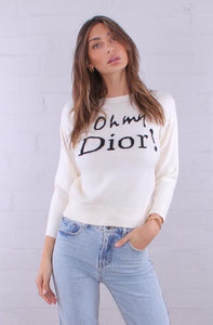 Oh my Dior Cream Knit