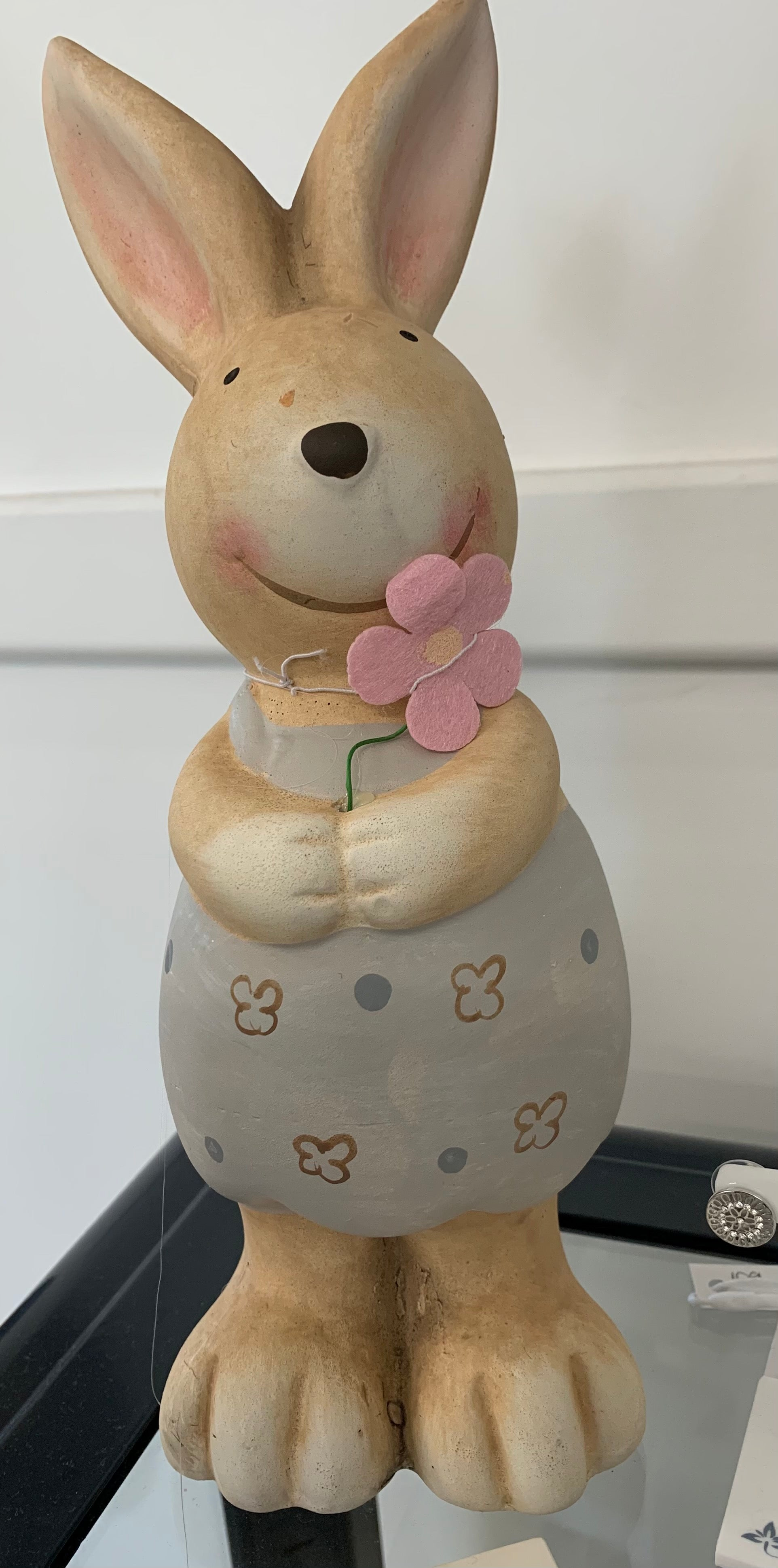 Standing rabbit with flower