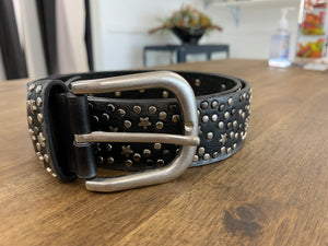 Black Star Studded Belt