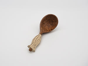 Hand Carved Oak Serving Spoon (sold individually)