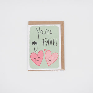 You're my Fav / Fi'n Hoffi ti cards