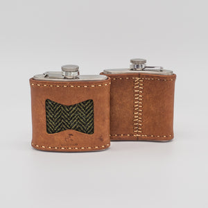 A perfect hip flask made in wales for hunters, shooters,  game keepers and country living.