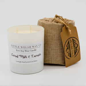 eco soy scented wax candles made sustainably, ethically and in wales.