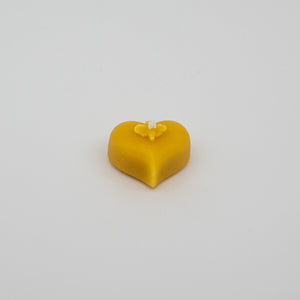Hand poured heart tealight beeswax candles