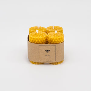 Hand rolled mini beeswax candles