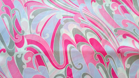 MOD in Pink - Polyester Crepe Fabric - Retro Fabric - 6PCR29