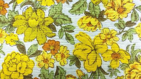 Riverdale Flowery Yellow - Heavy Retro Cotton  - 6C36