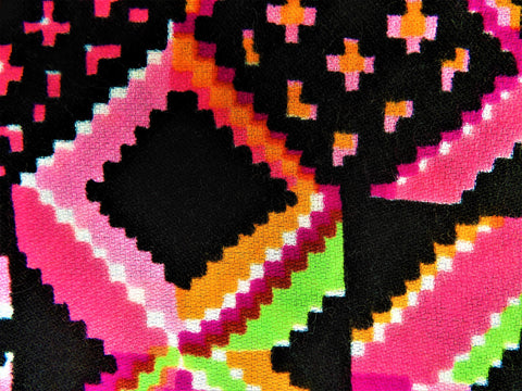 1971 Retro Fabric - Acrylic - Loud Patch - Fabric Remnant - 6A330