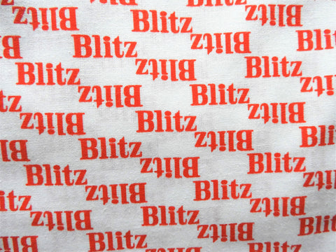 1960s 1970s Retro Fabric - Blitz Beer - Cotton - Red - By the Yard - 6C490