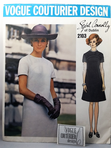 Vogue Couturier Design - Sybil Connolly - Vintage Sewing Pattern  - Dress - Size 14
