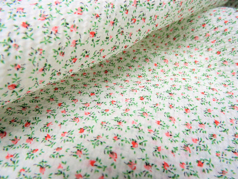 Vintage Fabric - Plisse - Tiny Rosebuds - By the Yard - PLE40