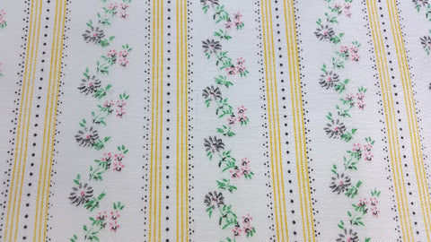 Daisy Dainty Dots - Vintage Ticking Fabric - TCKP70