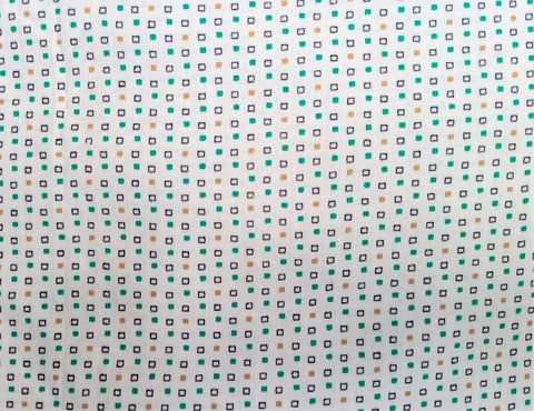 Vintage Fabric - Cotton  - Tiny Square - By the Yard - VCG101
