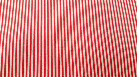 Red Pin Stripes - Vintage Fabric - VCGST4
