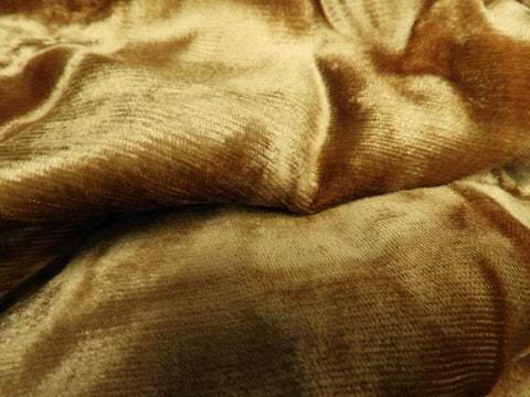 Vintage Fabric - Velvet - Brown - By the Yard - VLT30