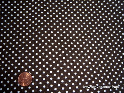 Hot Chocolate Polka Dots - Heavy Cotton - Retro Fabric - 6C5083