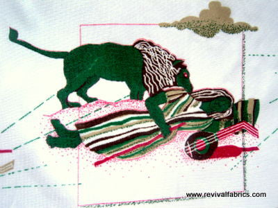 The Sleeping Gypsy - Henri Rousseau - Polyester - Retro Fabric - 6PS5123