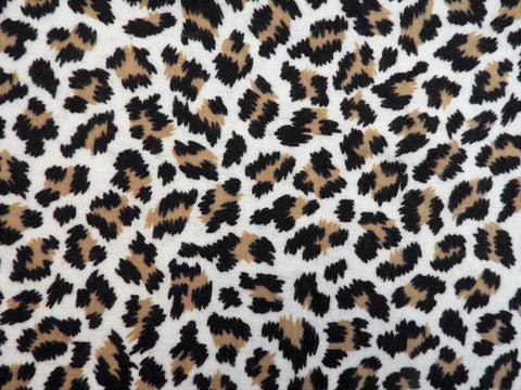Vintage Fabric - Cotton - Flannel - Wild Cat - Brown, Black - By the Yard - VFL335