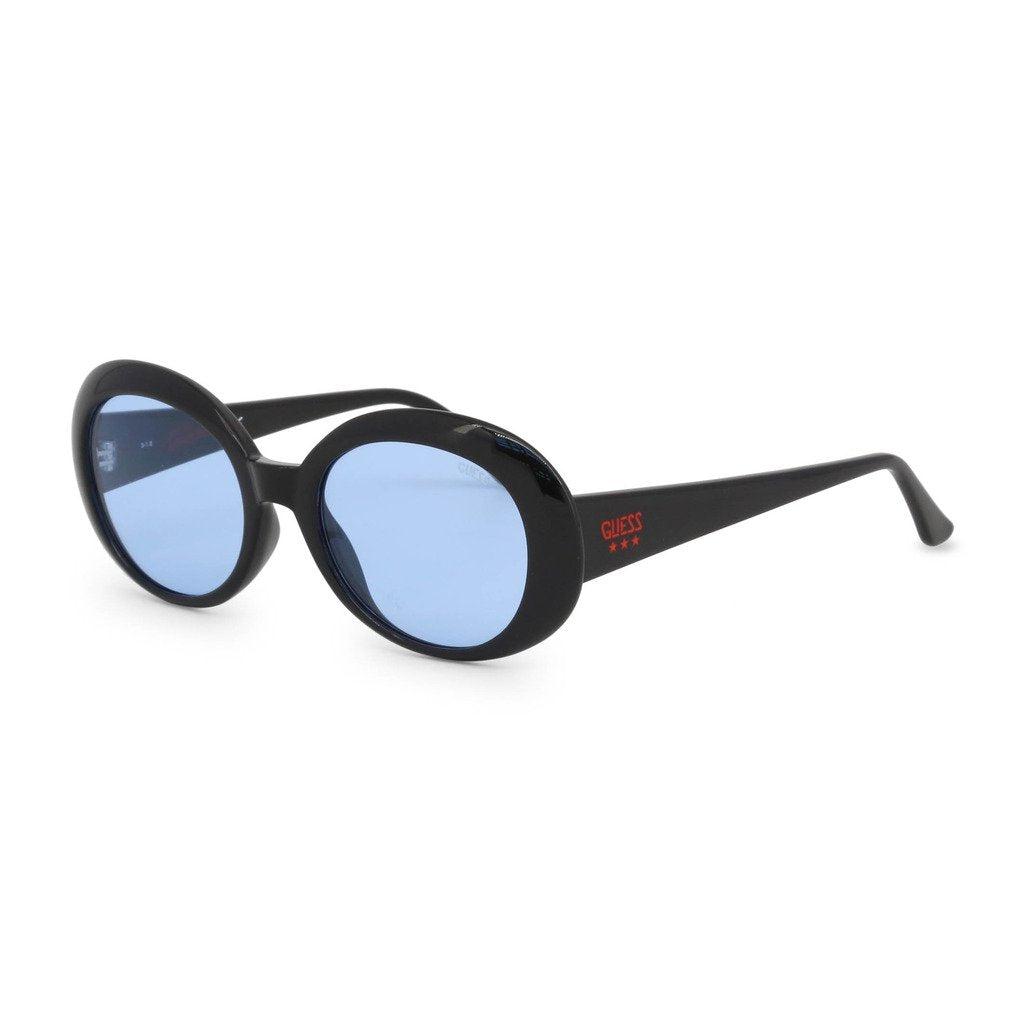 Black Acetate Sunglasses with Gradient Lenses