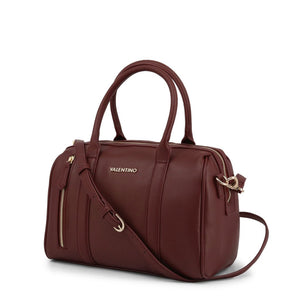 Brown Zip Handbag with Adjustable Shoulder Straps