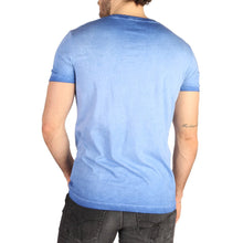 Load image into Gallery viewer, Blue Cotton T-Shirt with Print Pattern