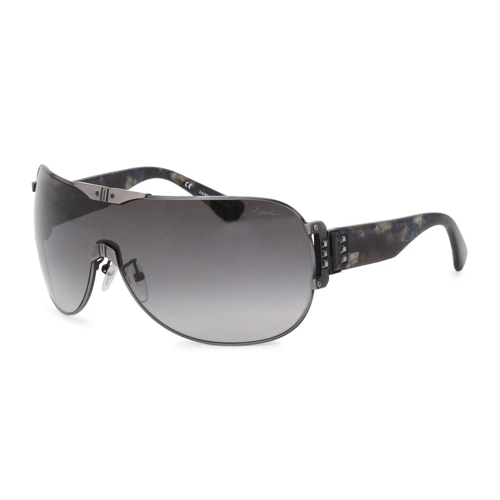 Gray Metal Sunglasses with Gradient Lenses