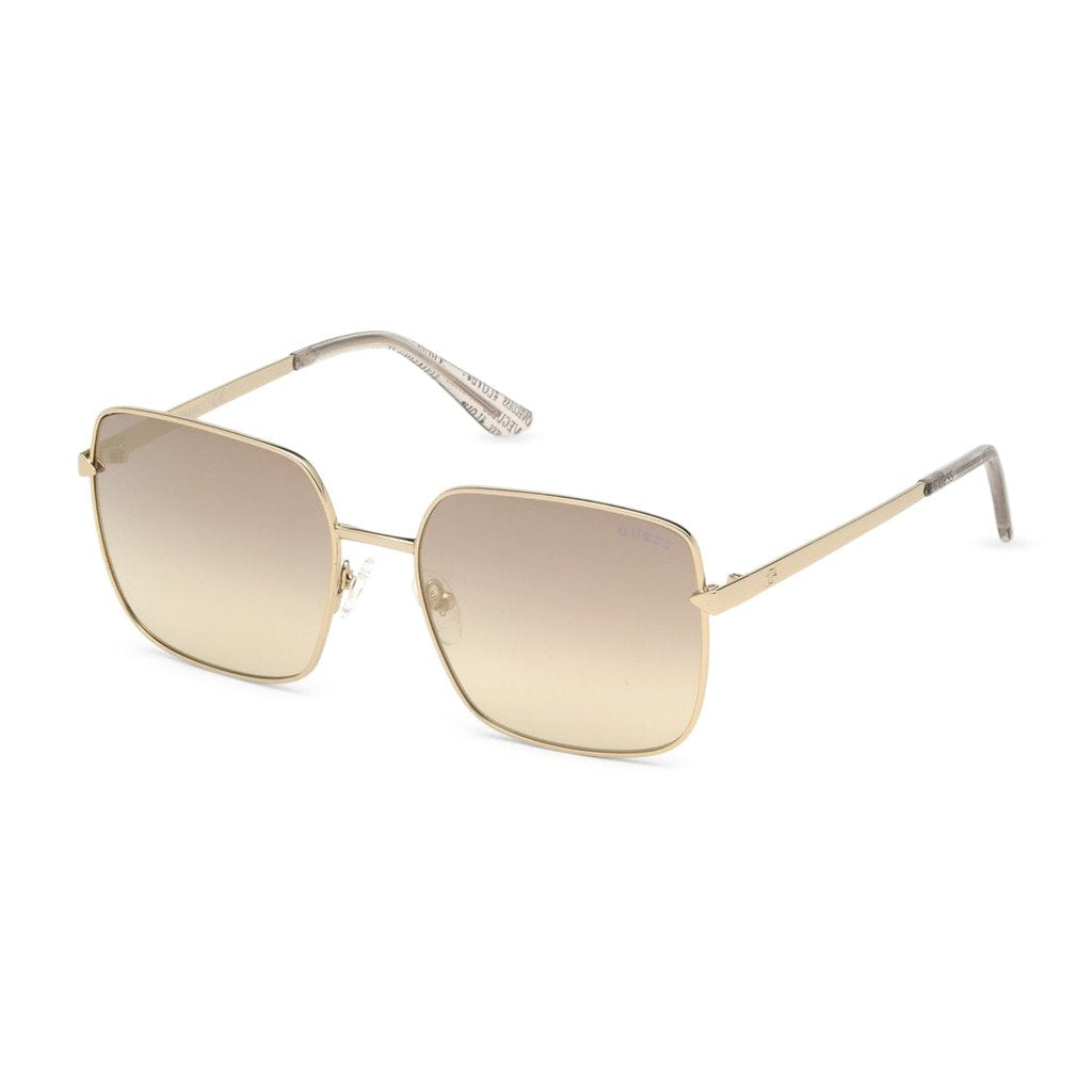 Yellow Metal Mirrored Lens Sunglasses