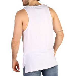 White Cotton Sleeveless Tank Top