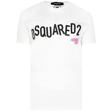 Load image into Gallery viewer, DSQUARED2 JUMBLED LOGO TEE IN WHITE