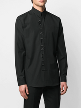 Load image into Gallery viewer, GIVENCHY TONAL EMBROIDERY SHIRT IN BLACK