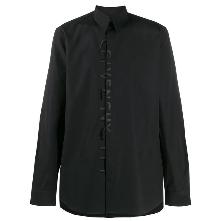 GIVENCHY TONAL EMBROIDERY SHIRT IN BLACK