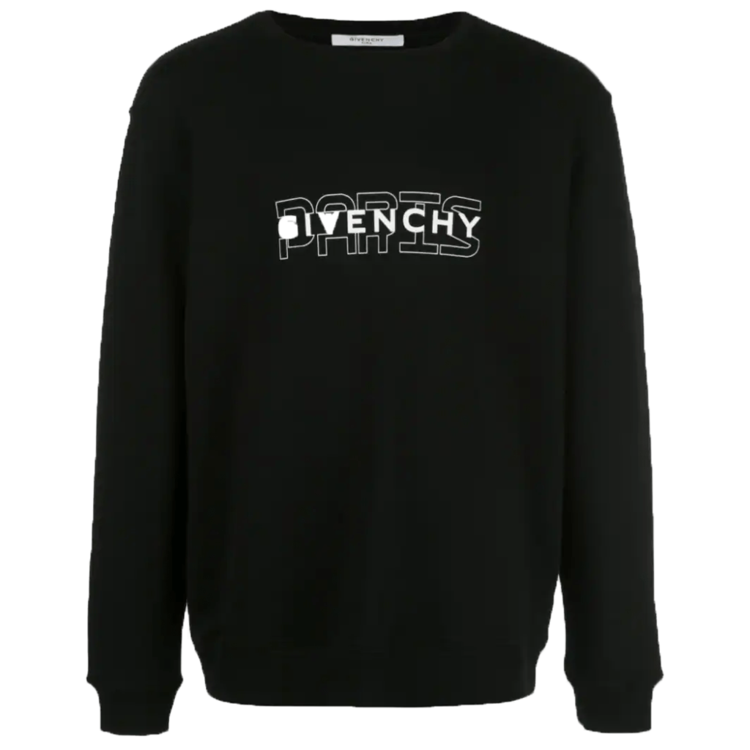 GIVENCHY PARIS OUTLINE SWEATSHIRT IN BLACK