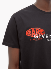 Load image into Gallery viewer, GIVENCHY RARE SPIRIT TEE IN BLACK
