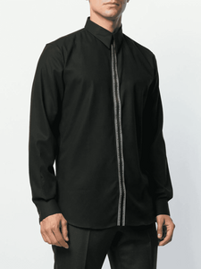 GIVENCHY TAPE SHIRT IN BLACK