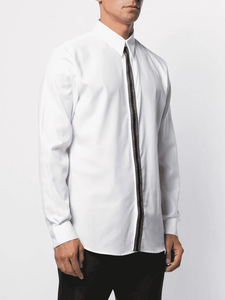 GIVENCHY TAPE SHIRT IN WHITE