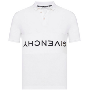 GIVENCHY REVERSE LOGO POLO IN WHITE