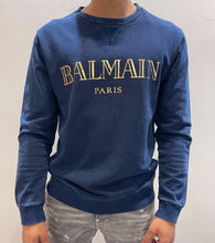 Load image into Gallery viewer, BALMAIN NAVY-GOLD SWEATER