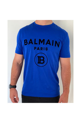 BALMAIN - ROYAL BLUE WITH FABRIC LOGO