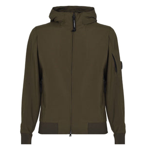 CP COMPANY HOODED BOMBER JACKET IVY GREEN