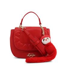 Load image into Gallery viewer, Red Leather Handbag with Visible Logo