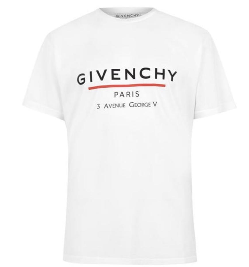 Givenchy Paris T-Shirt White/Red